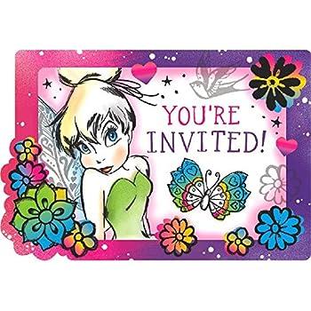 Amazon Disney Tinkerbell Fairy Birthday Party Invitation 8