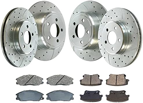 Prime Choice Auto Parts PR4297LR Front Pair of Performance Drilled and Slotted Brake Rotors