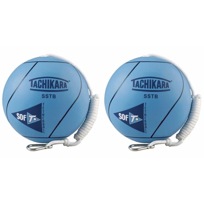 Tachikara SSTB Sof-T Rubber Tetherball (Blue) - 2 Pack by Tachikara (Image #1)