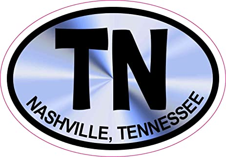 3x2 blue oval tn nashville tennessee sticker vinyl decal vehicle stickers by stickertalk