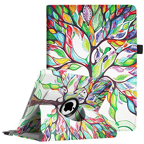 Fintie iPad 9.7 inch 2018 2017 / iPad Air Case - 360 Degree Rotating Stand Protective Cover with Auto Sleep Wake for Apple iPad 9.7 inch (6th Gen, 5th Gen) / iPad Air 2013 Model, Love Tree