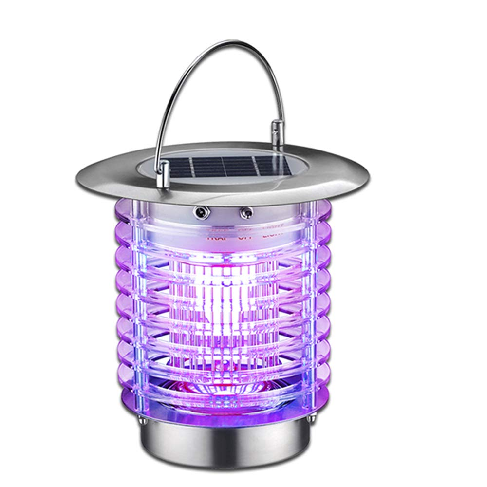 MeetUs Wireless Solar Power Mosquito Killer UV Lamp,Electronic Insect Killer Insect Pest Bug Zapper Led Solar Mosquito Killer Lamp for Camping,Fishing or Hiking, 2 Modes