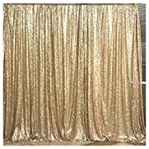 QueenDream 4ftx6.5ft Matte Gold Sequin party backdrop fabric sequin backdrop curtain photography backdrops Christmas