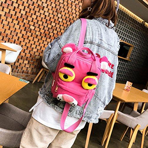 mignon sac d'école de dos à OULII dos voyage sac Sac de rose sac occasionnel dessin M Toile sac animé à taille 7xqpw648