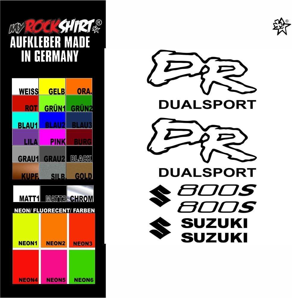 myrockshirt/® Aufkleber Set blau1 Suzuki dr 800s Aufkleber Set Sticker Decal kit 4716 Motorrad Tuning Set Bike aus Hochleistungsfolie ohne Hintergrund Profi-Qualit/ät viele Farben zur Auswahl MADE IN GERMANY