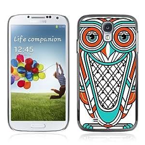YOYOSHOP [Cool Owl Illustration Tattoo] Samsung Galaxy S4 Case Kimberly Kurzendoerfer