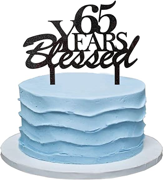 Sensational 65 Years Blessed Cake Topper 65Th Birthday Party Decorations Funny Birthday Cards Online Drosicarndamsfinfo