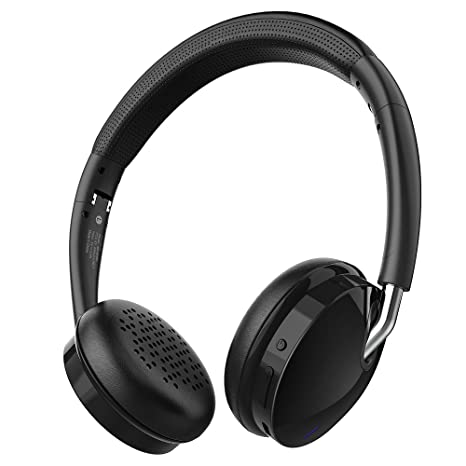 Auricular Bluetooth estéreo inalámbrico HiFi con manos libres para iPhone, Android, PC (Plegable
