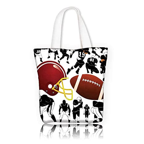ce72b116e0b0 Amazon.com  Reusable Cotton Canvas bag -W17.7 x H14 x D7 INCH ...