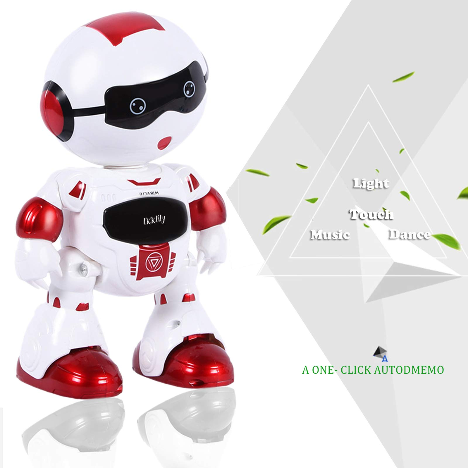 LKKLILY Remote Control Robot with Touch Interaction Music Dance and Lights Remote Toy for Children Kids and Kids Gifts (Red) by LKKLILY (Image #4)