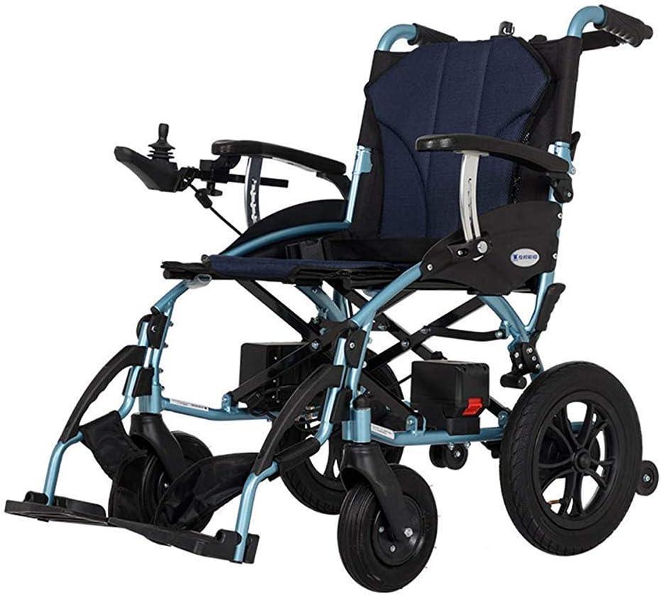 WLD Ancianos Discapacitados, Personas Mayores Silla de Ruedas Eléctrica Plegable Portátil de Pequeño Tamaño Automático Inteligente Ancianos Vespa Personas de Movilidad Reducida armres