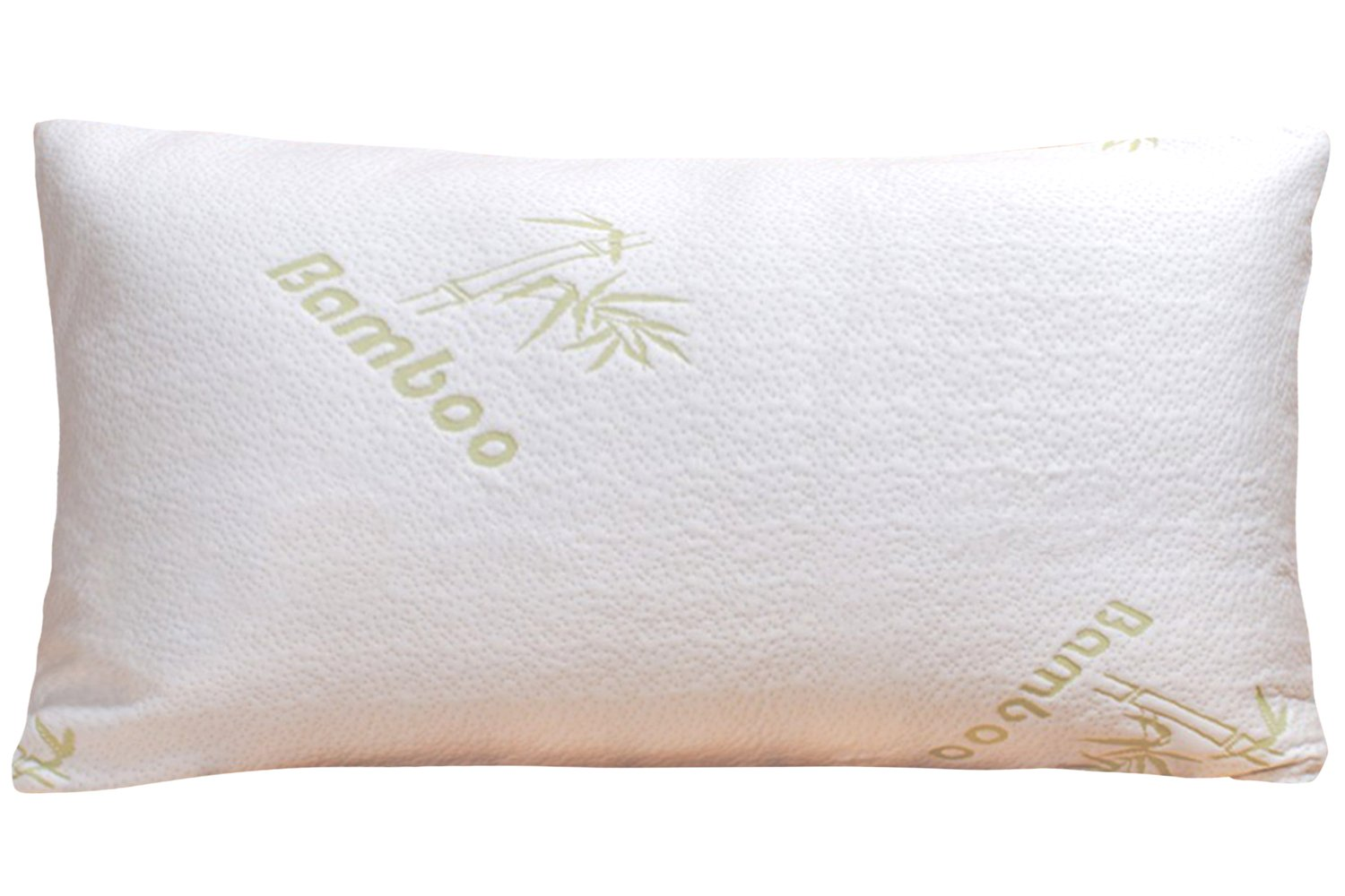 (King, White) Bamboo Shredded Memory Foam King Pillow with Removable Bamboo Cover B01L2778KYキング