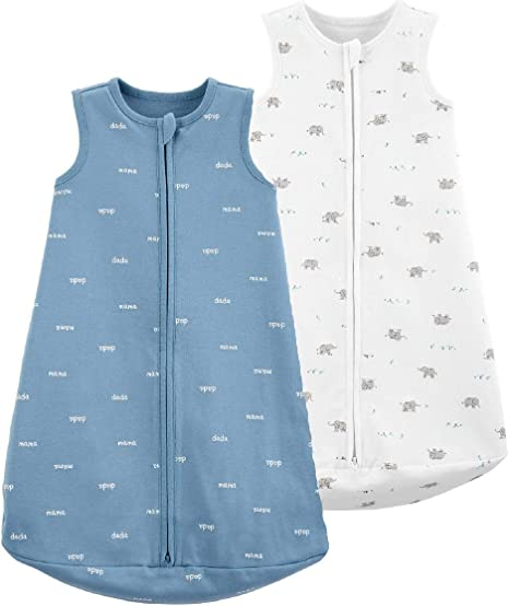 Carters Baby-Girls 2-Pack Cotton Sleepbag Nightgown