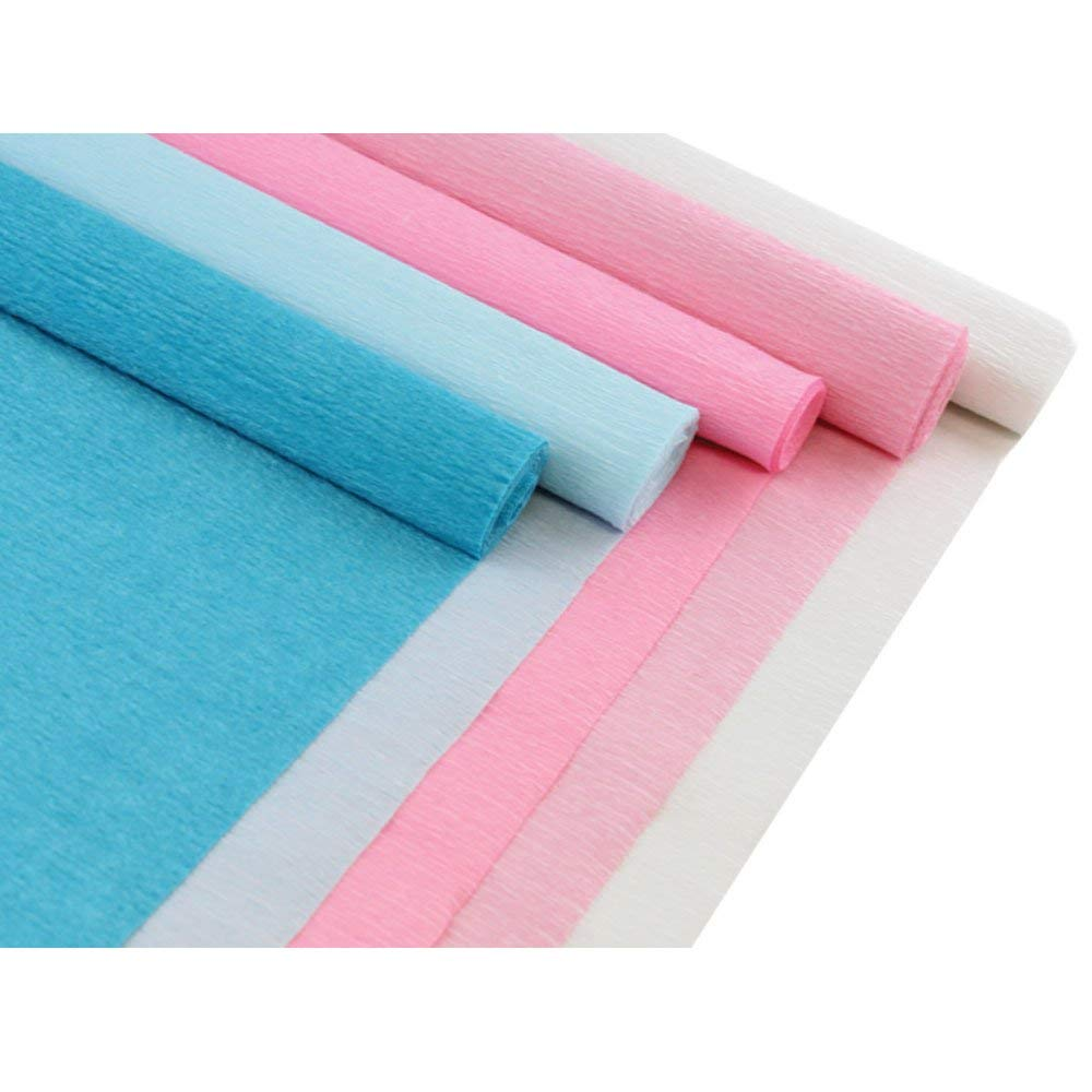 8ft Length//20in Width Floral Assorted Premium Crepe Paper Rolls LEMON 5 Roll, Color: Mermaid