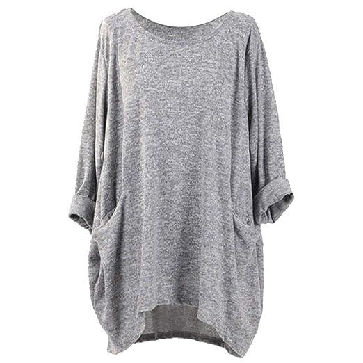 Amazon.com: Ulanda Womens Oversized T-Shirt Blouse Round Neck Batwing Sleeve Loose Casual Tunic Tops: Clothing