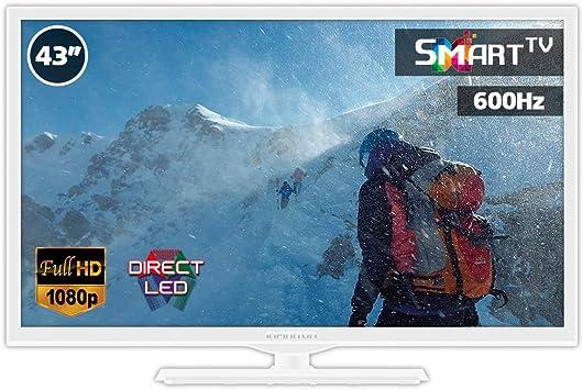 Television LED 43 Pulgadas Blanco INFINITON Smart TV (TDT2 ...