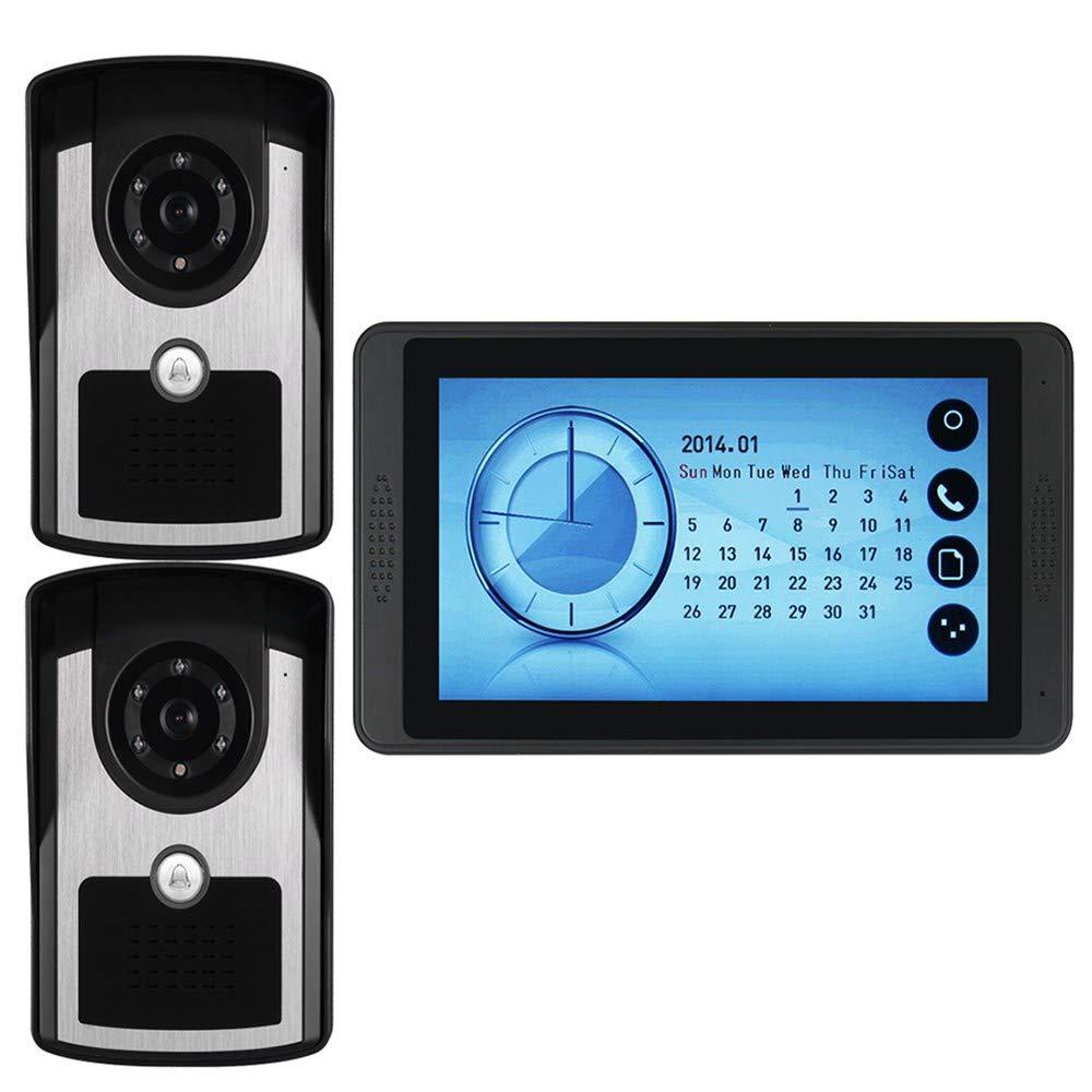 YLXD Videoportero Timbre de Video, Digital Mirilla 7