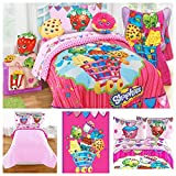 Shopkins Complete 5 Piece Bedding Comforter Set - Twin