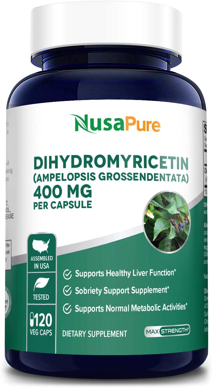 Dihydromyricetin (DHM) as Hovenia Dulcis Extract 400mg 120 Veggie Capsules (No GMO & 100% Vegetarian) Support Hangover Prevention, Support Relief of Anxiety