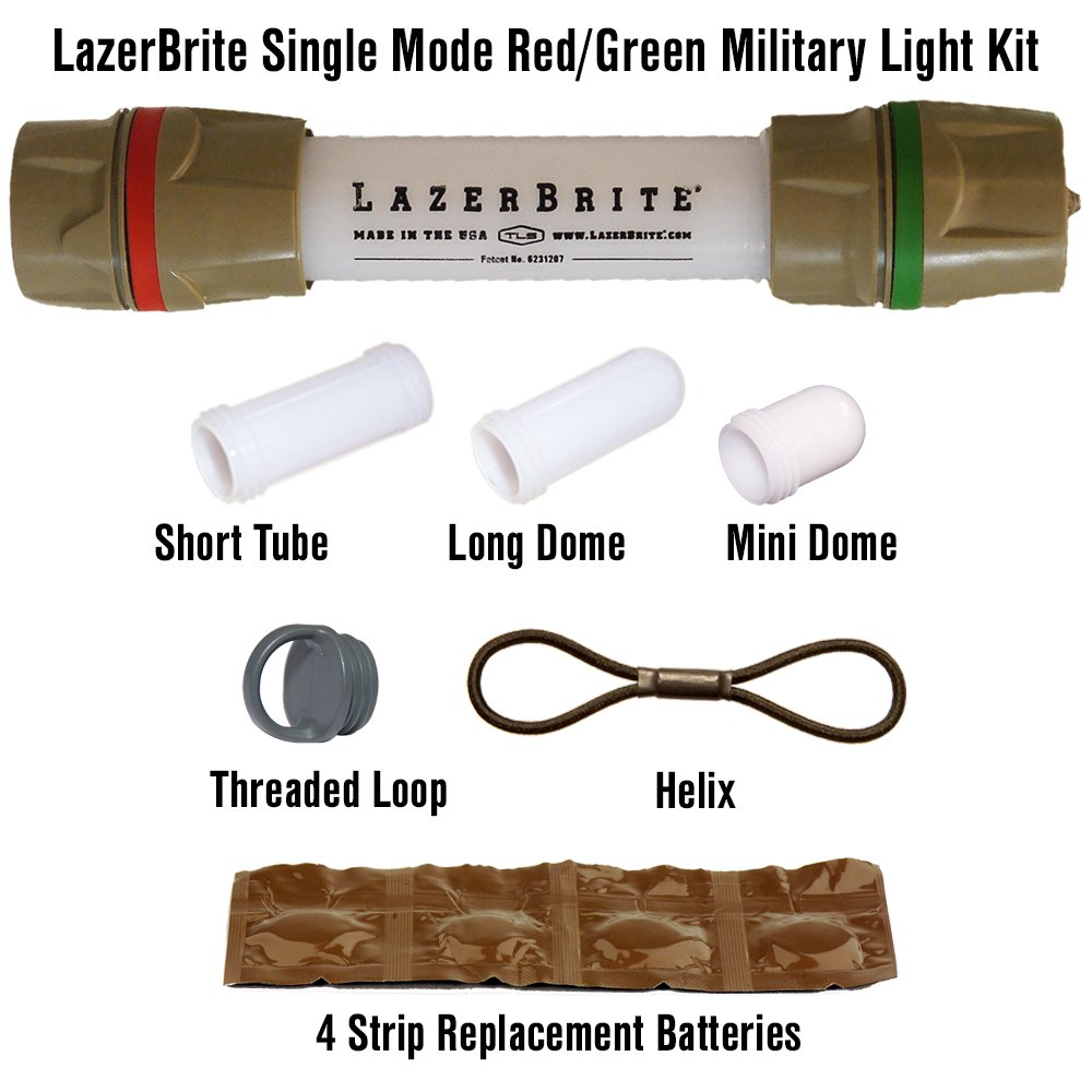Lazerbrite Single Mode Red/Green Military Light Kit