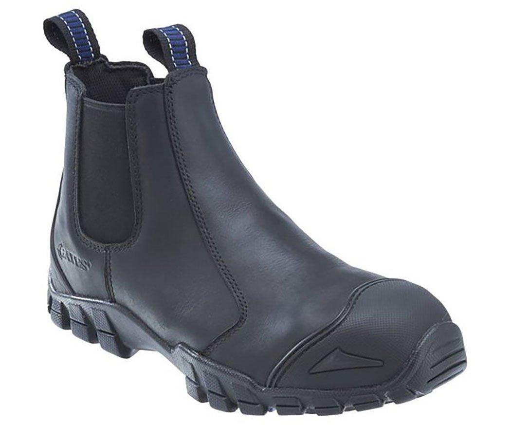Bates Men's Strike Chelsea Comp Toe Slip-On Safety Toe Boot, Black, 8.5 M US