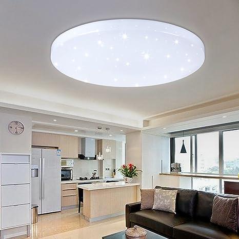 HG® 50W LED Luz de techo Lámpara de techo Blanco Lámpara de pared Ronda Techo Iluminación Sala de estar Estrellas Pared Techo Comedor Dormitorio ...
