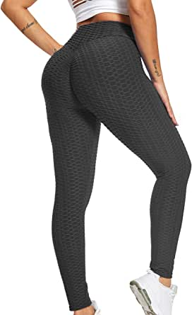 Iuulfex Workout Leggings Women Booty Yoga Pants High Waist Scrunch Butt Lifting Tummy Control Tights