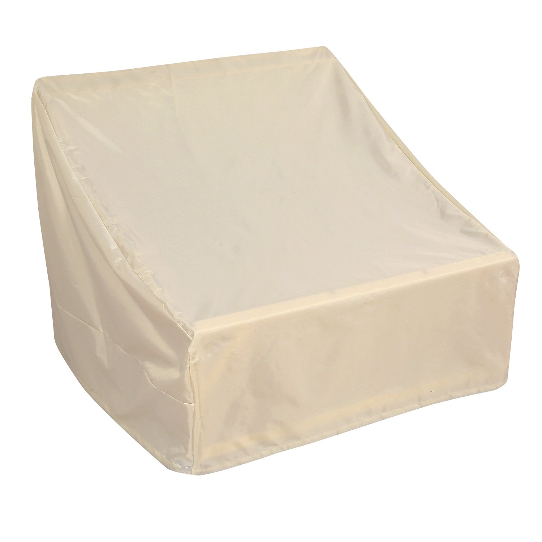 Deconovo Oxford Veranda Patio Lounge Chair Water Resistant Sofa Cover Dustproof Sofa Chair Cover for Patio Chair 38L x 35W x 31H Inch Beige