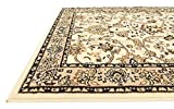 Unique Loom Kashan Collection Ivory 4 x 6 Area Rug