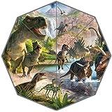 EnnE Dinosaur Umbrella Foldable Umbrella Rain Compact Travel Umbrella UV Protection