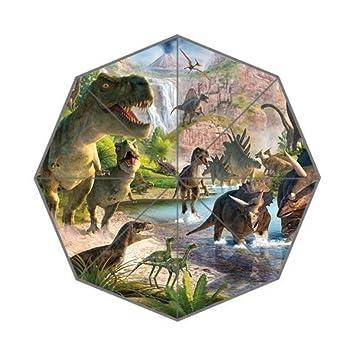 Enne dinosaurio paraguas plegable paraguas lluvia paraguas de viaje compacto protección UV