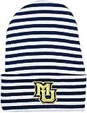 Creative Knitwear Marquette University Striped Newborn Knit Cap Navy/White