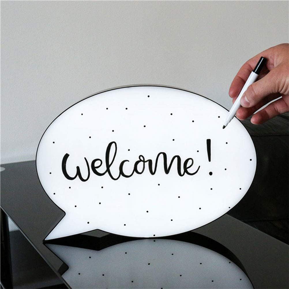 Uscyo LED Handwriting Light Box, Drawing Box, LED Screen Writing Message Board for Interior Decoration, Mood Lighting, Night Light, Party and Home Decoration by Uscyo (Image #6)