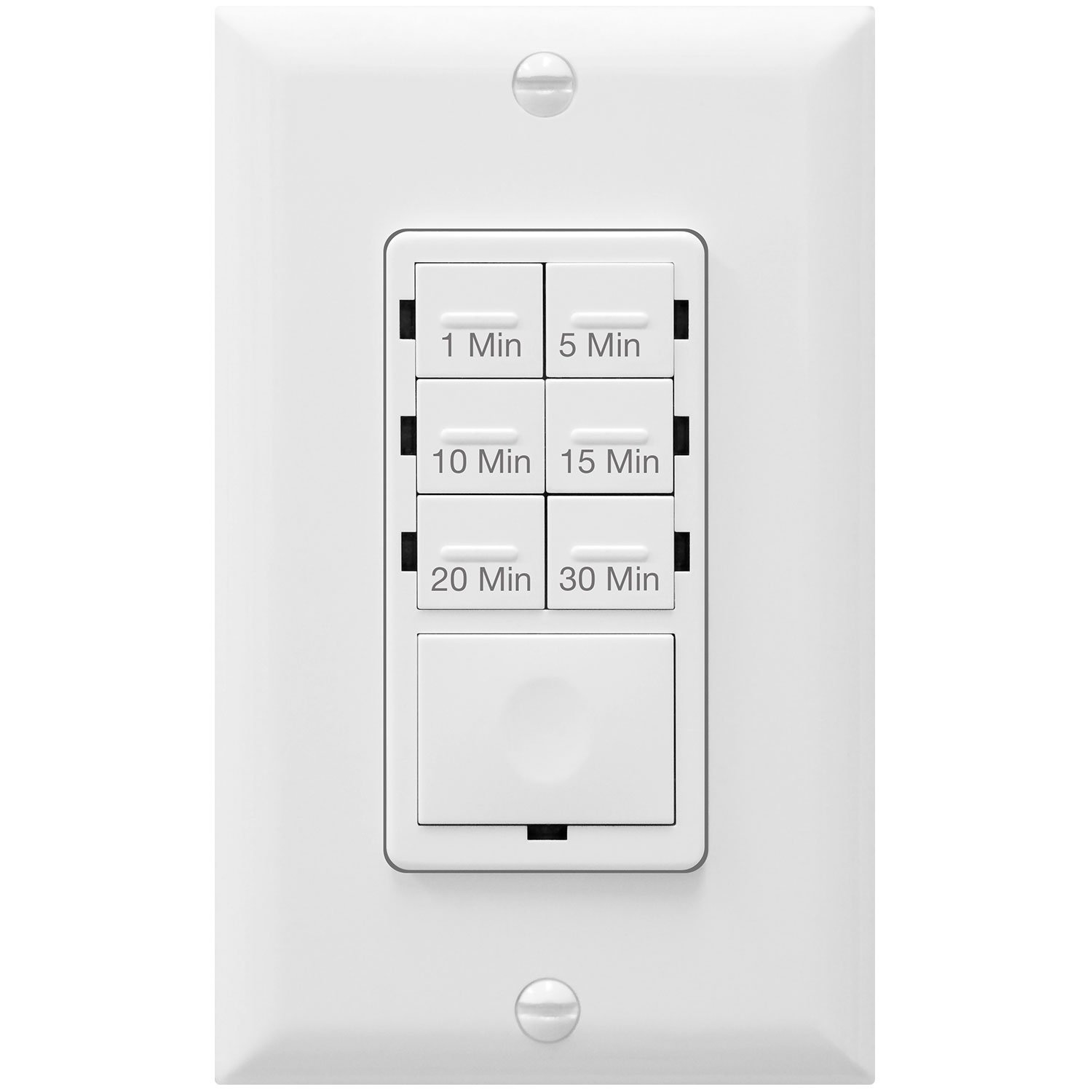 Enerlites Het06a White 1 5 10 15 20 30 Minutes Preset In Wall Wiring A Timer Switch Diagram Countdown W Decorator Plate Industrial Scientific