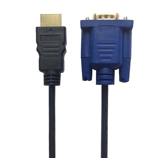 4 opinioni per Da HDMI a cavo VGA, RTX 1,8 metri nuovo oro HDMI maschio a maschio VGA D-sub HD