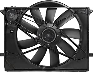 DNA Motoring OEM-RF-0297 MB3115113 Factory Style Radiator Cooling Fan Assembly Replacement