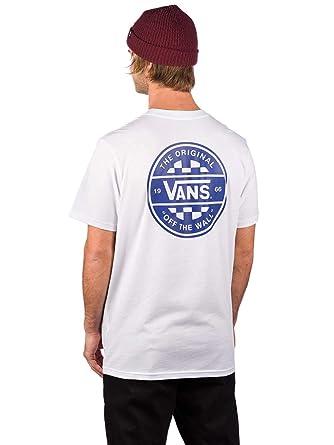adf539a9 Vans Checker Co Short Sleeve T-Shirt Medium White: Amazon.co.uk: Clothing