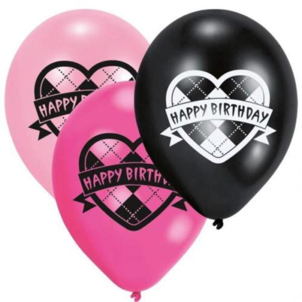 Monster High誕生日パーティーラテックスHappy誕生日バルーンX 6   B01D1DP5KM