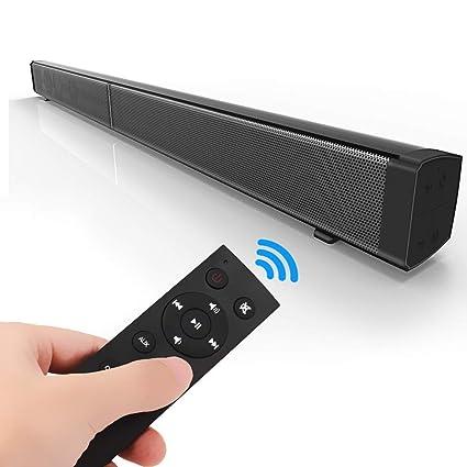 Barra De Sonido Bluetooth TV Por Cable E Inalámbrica Control Remoto Bluetooth 4.2 Altavoz Estéreo Altavoz