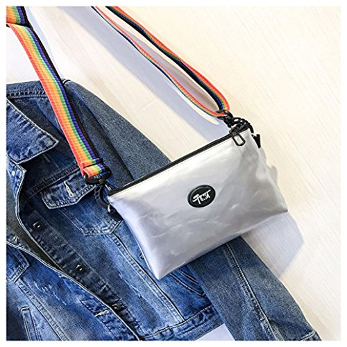 Shoulder Fashion Package Silver Silver Bag Lnclined Bag Messenger Bellelove Small Weman Mobile Phone Sequins Bag Square Ribbon Slanting qIfwfTBdZR