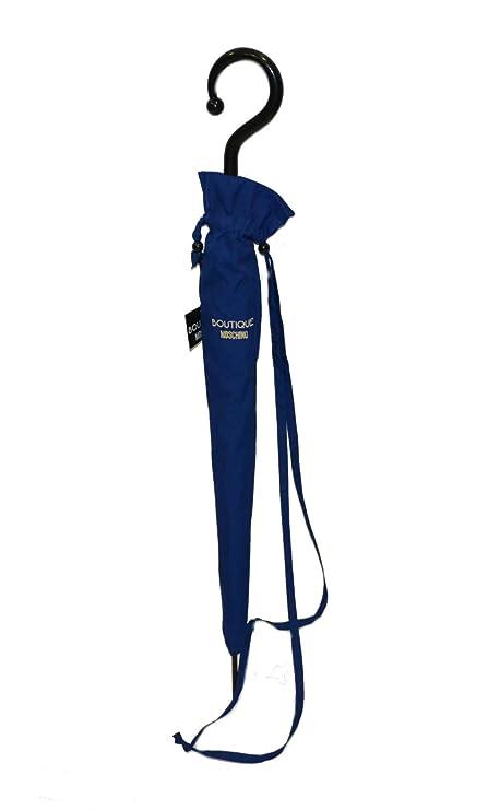 Ombrello Moschino con custodia biposto antivento blu  Amazon.it ... c23999a3331