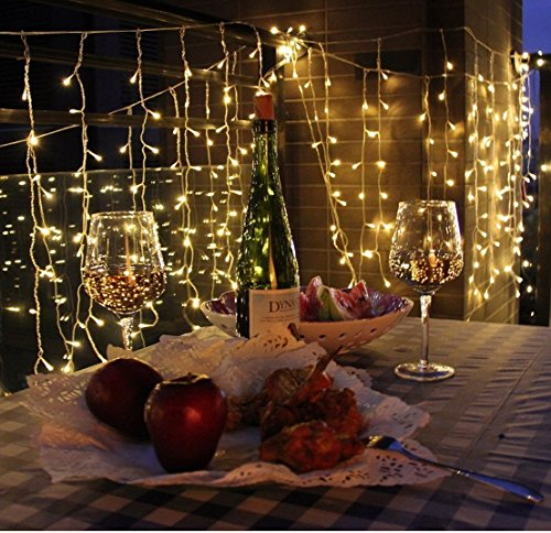 Battery Operated 300 Led Curtain String Lights W Remote