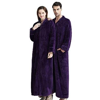 Amazon.com  Womens Relaxed Fit Zip-Front Fleece Lounger Robe 07a7d5d0d
