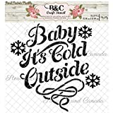 Christmas Words stencil quote Baby it's cold outside for craft and home decoration wood signs CFT0020