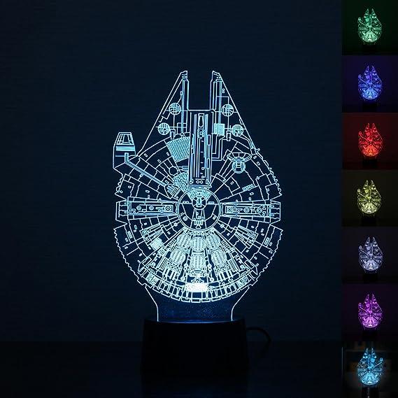 Leegoal (TM - Lámpara LED de Noche 3D, diseño de Star Wars ...