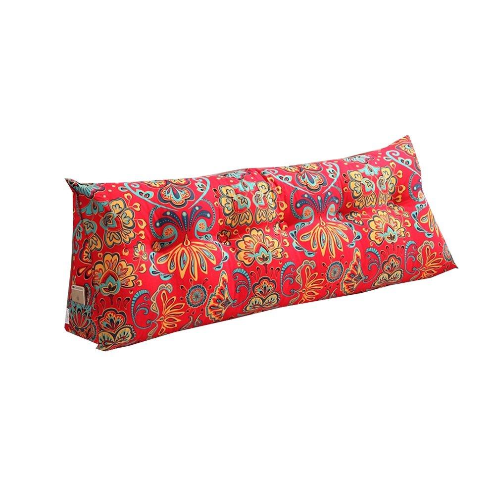 ベッドサイドの背もたれ三角ベッド枕ソファ大きなロングクッション/枕の腰の枕はクッションレッドを読む (サイズ さいず : 150 * 50 * 22cm) B07DK5HBSG 150*50*22cm  150*50*22cm