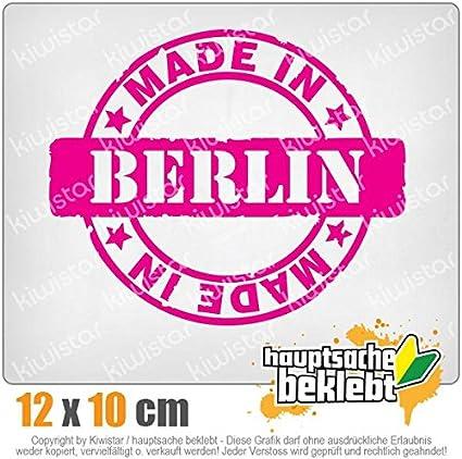 KIWISTAR Aufkleber Made in Berlin Autoaufkleber Sticker Bomb Decals Tuning Bekleben