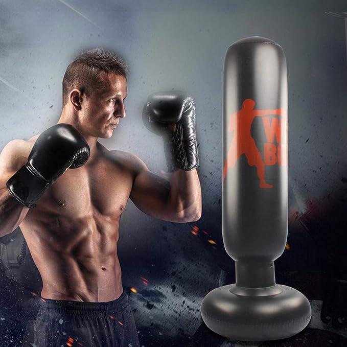 Mississ 160 cm Boxing Hinchable Columna Tumbler Sandbag Free ...