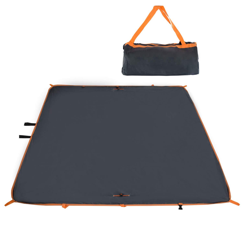 Fitfirst Manta Picnic Plegable con Capas Dobles Impermeable Resistente Lo Mejor para Césped/Playa/Picnic/RV/Excursión/Fiesta (Gris)