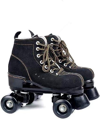 Amazon Com Xudrez Cowhide Roller Skates For Women And Men High Top Shoes Double Row Design Adjustable Classic Premium Roller Skates Sports Outdoors